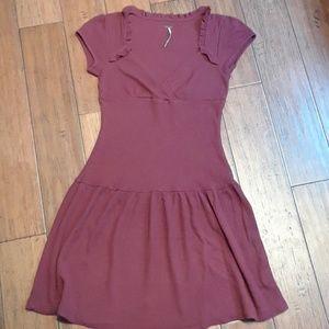 Free People EUC burgundy dress sz S